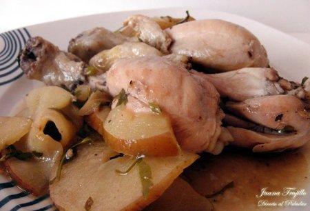 Receta de pollo con manzana y perejil