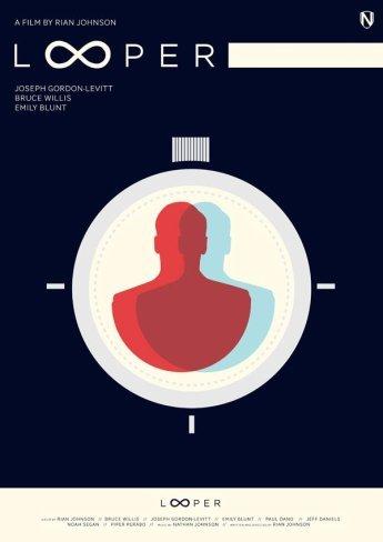 Otro póster alternativo de Looper de Rian Johnson