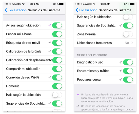 localización iOS™