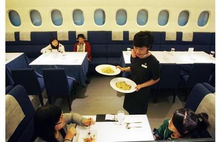 Un restaurante con pinta de A380 en Taipei