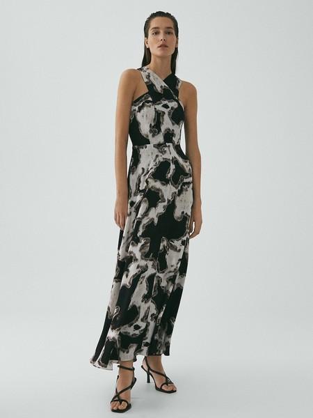 Vestido Estampado Blanco Y Negro Limited Edition