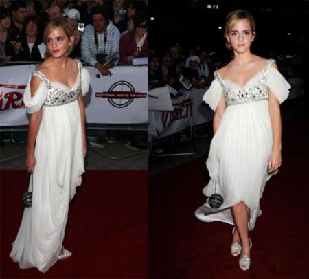Emma Watson de blanco en los National Movie Awards