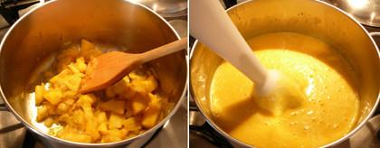 Crema calabaza y manzana 2