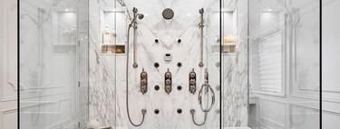 Tendencias el cuarto de baño; las mamparas de ducha más ligeras sin perfiles o con perfiles y herrajes mínimos