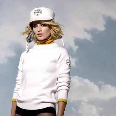 Todos los detalles icónicos de Chanel (incluido el blanco y negro) son la clave de su nueva línea de ropa de esquí