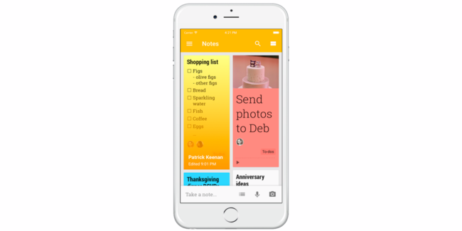 Google Keep Ios 01