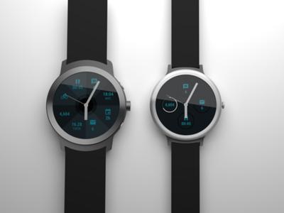 Así serían los dos relojes Android Wear fabricados por Google