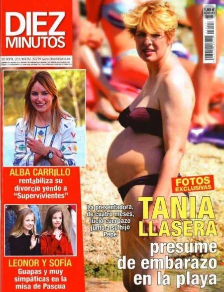 Tania Llasera, embarazo entre las olas