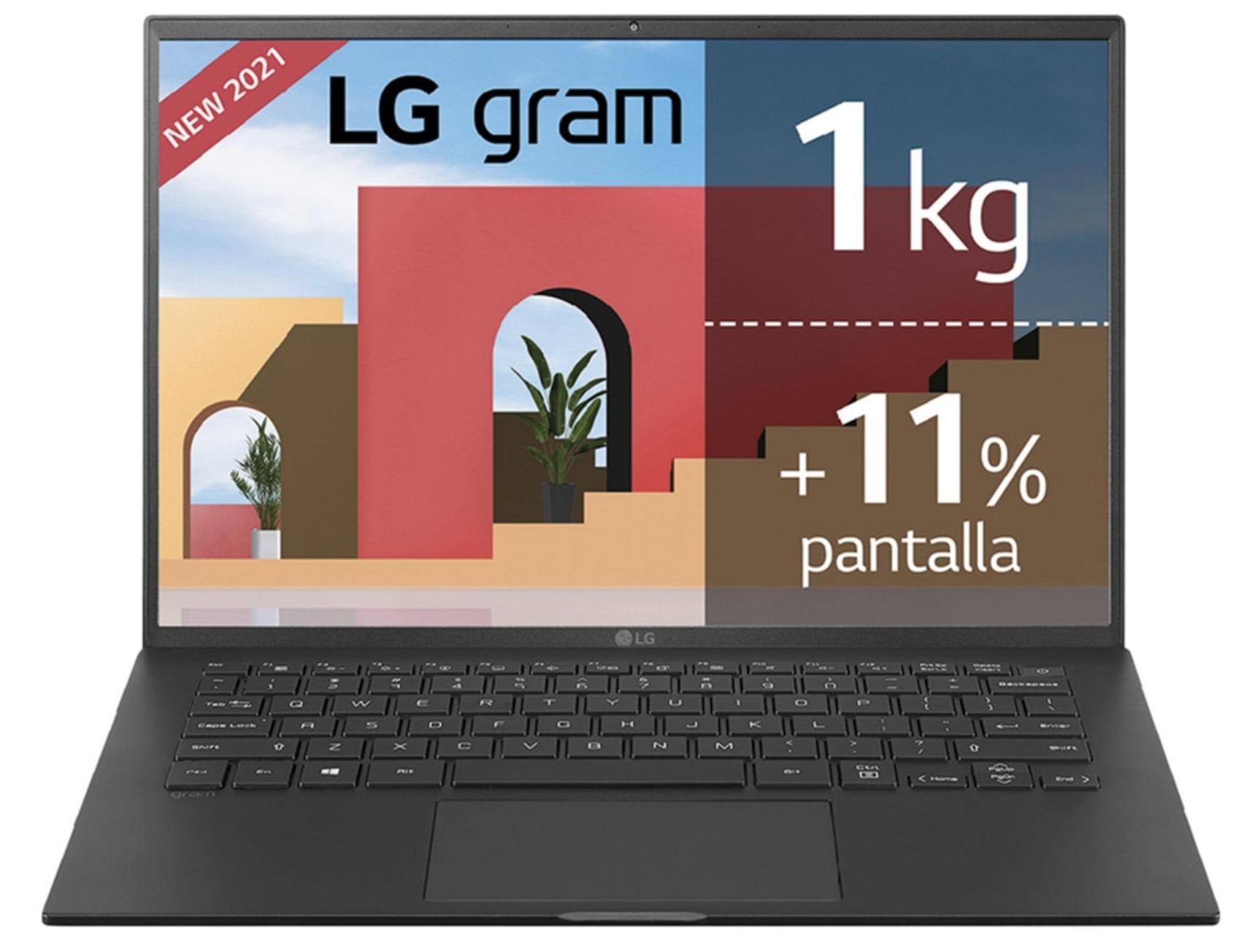 Portátil LG Gram 14Z90P, i7, 16GB, 512GB SSD