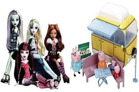 Las 'Monster High' y 'Peppa Pig', los juguetes más pedidos por los niños en su carta a los Reyes Magos