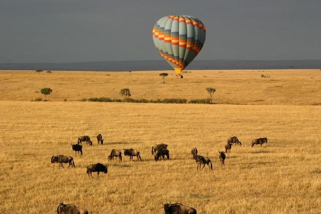 safari en globo en kenia