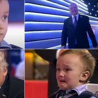 Con todos ustedes, Anatoli Kárpov dándole una paliza al ajedrez a un niño de cuatro años