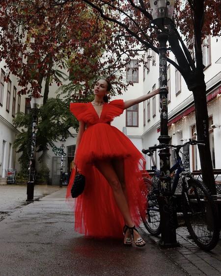Giambattista Valli Hm Red Dress Tulle 02