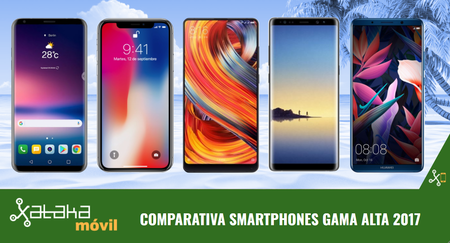 Mejores Móviles Gama Alta 2017 Comparativa De Características Análisis Y Precios