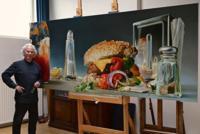 Pintura de comida hiperrealista de Tjalf Psarnaay