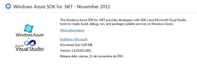 Windows Azure SDK Noviembre 2011