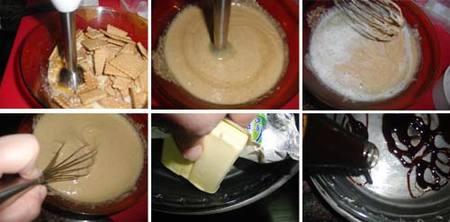 Preparación del pastel de almendras