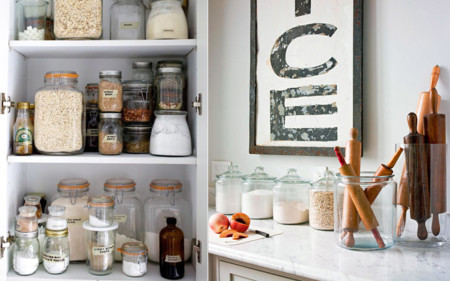 Siete secretos para ordenar tu cocina como en tus mejores - Botes almacenaje cocina ...