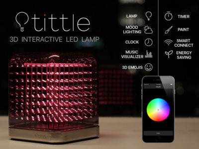Esta lámpara crea imágenes en 3D gracias a su matriz de 512 luces LED
