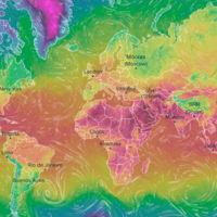 Este flipante mapa interactivo predice con todo detalle el tiempo de todo el mundo