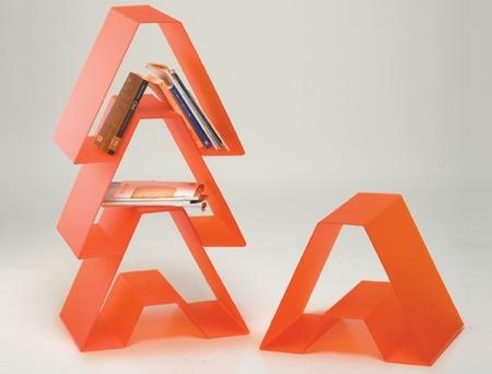 Estantería modular triangular