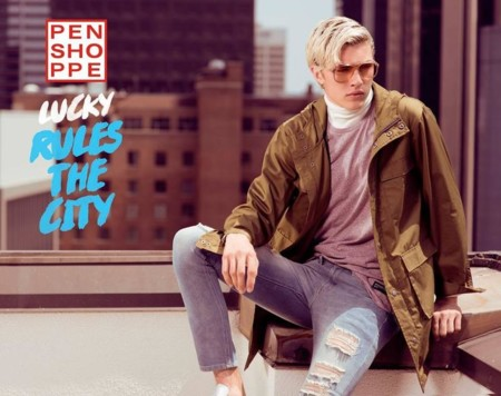 "Lucky Blue Smith ""rules the city"" para Penshoppe"