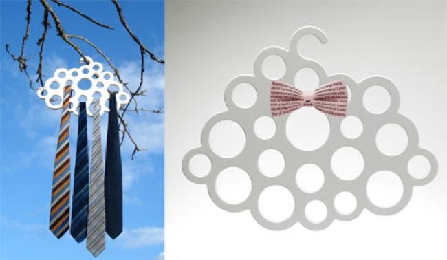 Una percha con forma de nube para accesorios y complementos - Percha para panuelos ...