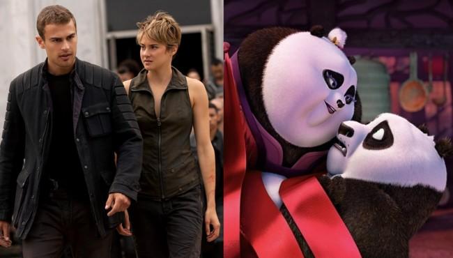 La serie Divergente: Leal y Kung Fu Panda 3