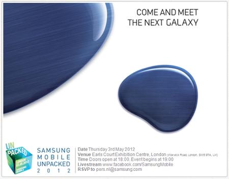 Es oficial, el nuevo Samsung Galaxy llegará el 3 de Mayo