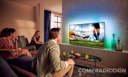 Diagonal bestial para disfrutar la Eurocopa a precio ajustado: Philips Ambilight 75PUS8505/12 por 1.159,99 euros esta semana en Amazon