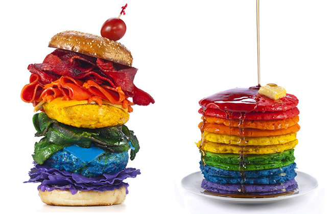 Comida arcoíris - hamburguesa