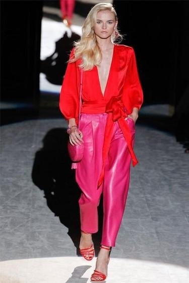 Salvatore Ferragamo Primavera-Verano 2012: color block es mi nombre, los vestidos de fiesta mi razón de ser