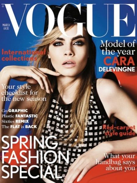Cara Delevingne consigue su primera portada en Vogue UK
