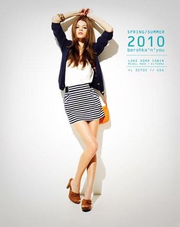 Bershka viste a la mujer joven este verano 2010: lookbook completo con todos los estilos