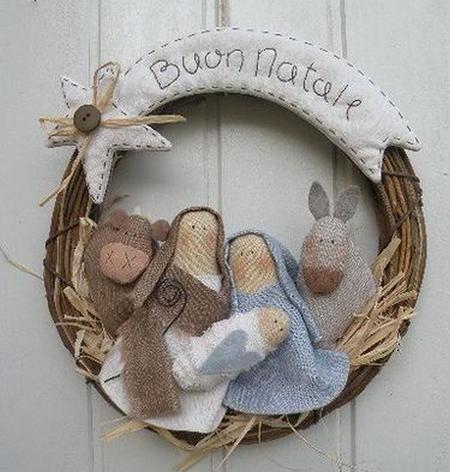 5 coronas de navidad que puedes hacer t mismo - Arbol de navidad artesanal ...