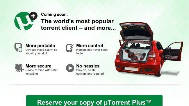 uTorrent tendrá una versión de pago: uTorrent Plus