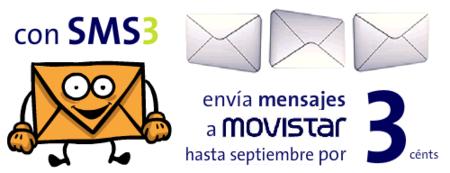 SMS a Movistar por 3 céntimos en promoción a partir del tercero diario