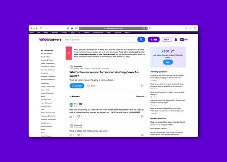 Yahoo Respuestas cerrará para siempre el próximo 4 de mayo, tras más de 15 años operando