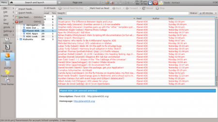 El menú global de Kubuntu para Netbooks