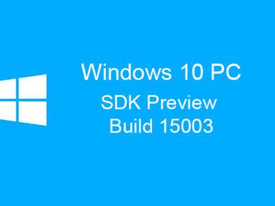 Microsoft libera el SDK Preview de la Build 15003, pero cuidado, pues los fallos pueden ser aún importantes