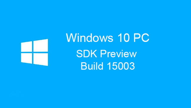 SDK Preview de la Build 15003