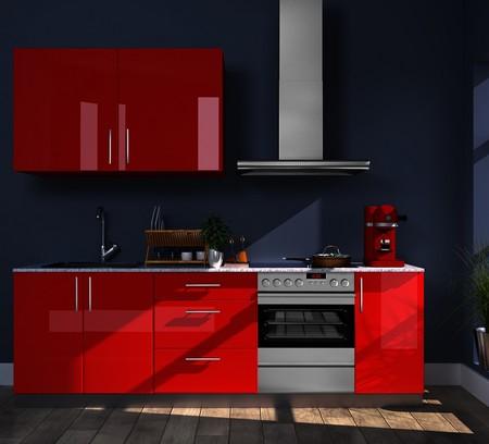 Cocina roja Leroy Merlin