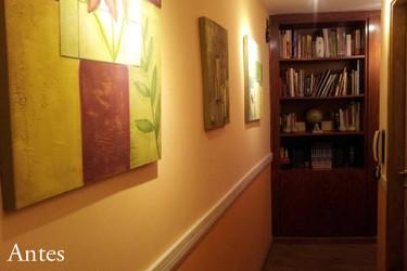 Antes y después: cambiando un pasillo con un poco de pintura