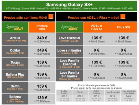 Precios Samsung Galaxy S8 Plus Con Pago A Plazos Orange