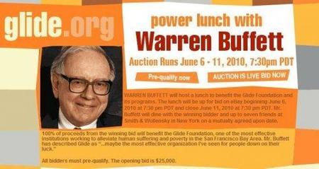 Warren Buffett sigue con las subastas de sus almuerzos anuales
