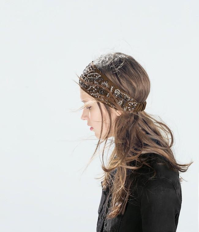 Zara arriesga un poco m s de lo habitual en sus for Turbantes pelo zara