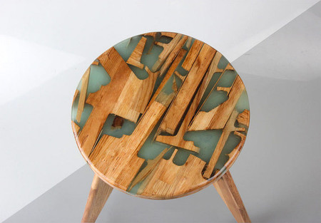 Hattern Resin Wood Stool 7