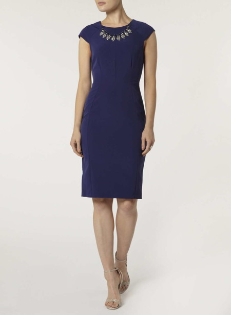 Vestido Lapiz Azul Marino Dorothyperkins