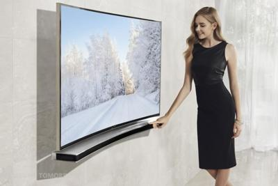 Tenía que llegar: una barra de sonido lista para acompañar a los televisores curvos