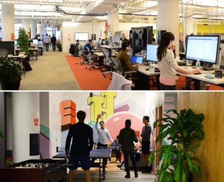 Vivir en Nueva York y trabajar en las oficinas de Facebook diseñadas por Frank Gehry ¿se puede pedir más?